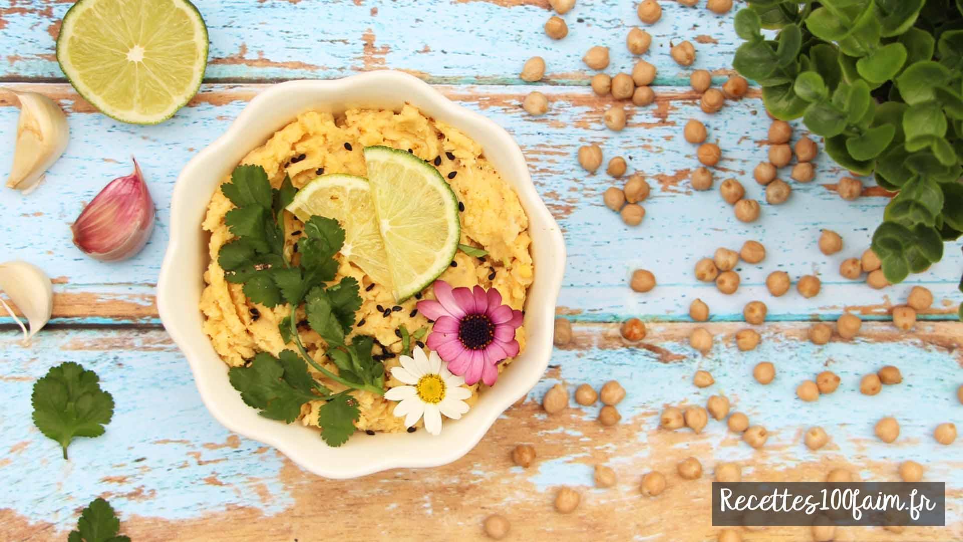 recette houmous pois chiches