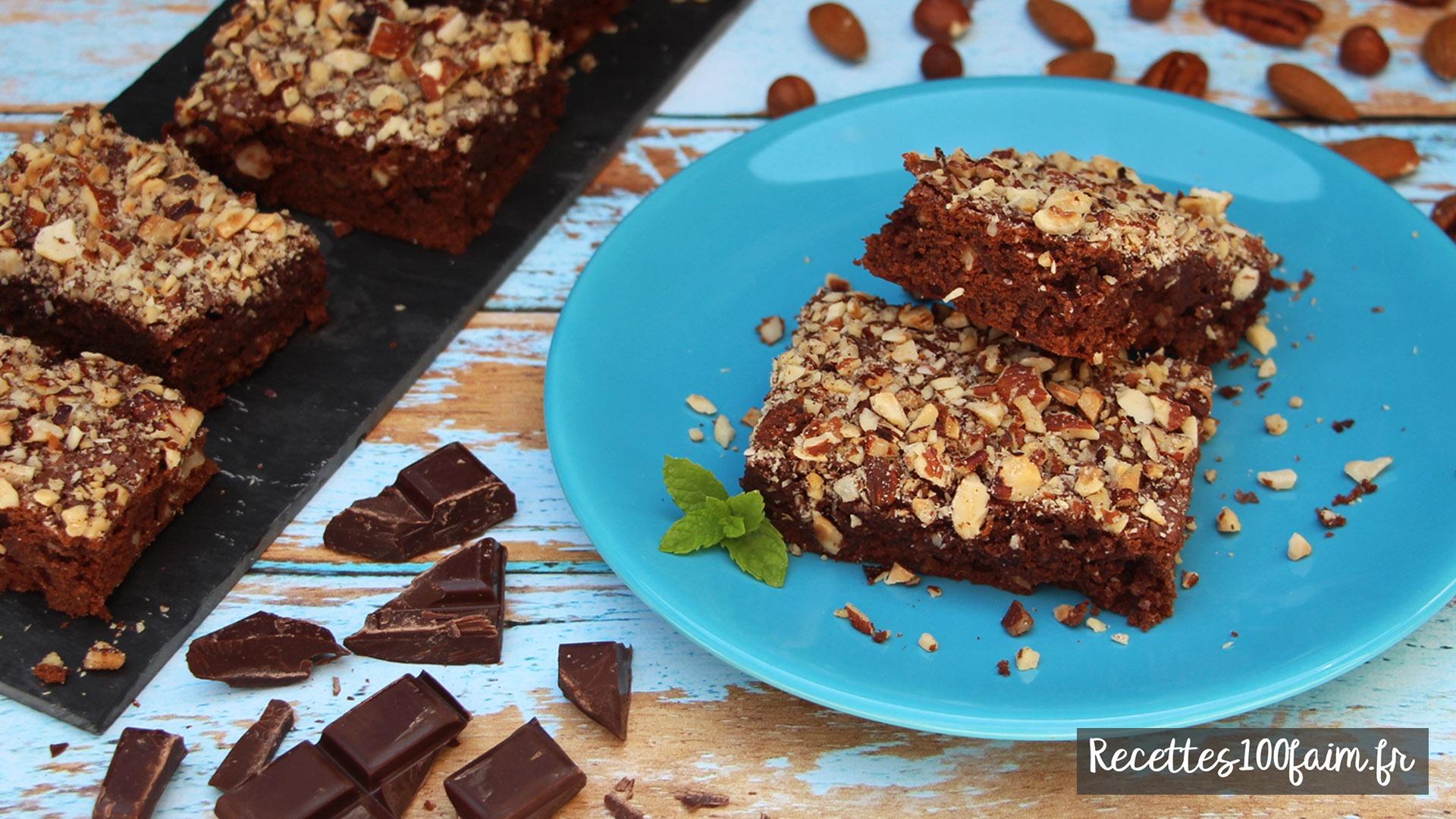 recette brownies chocolat noir