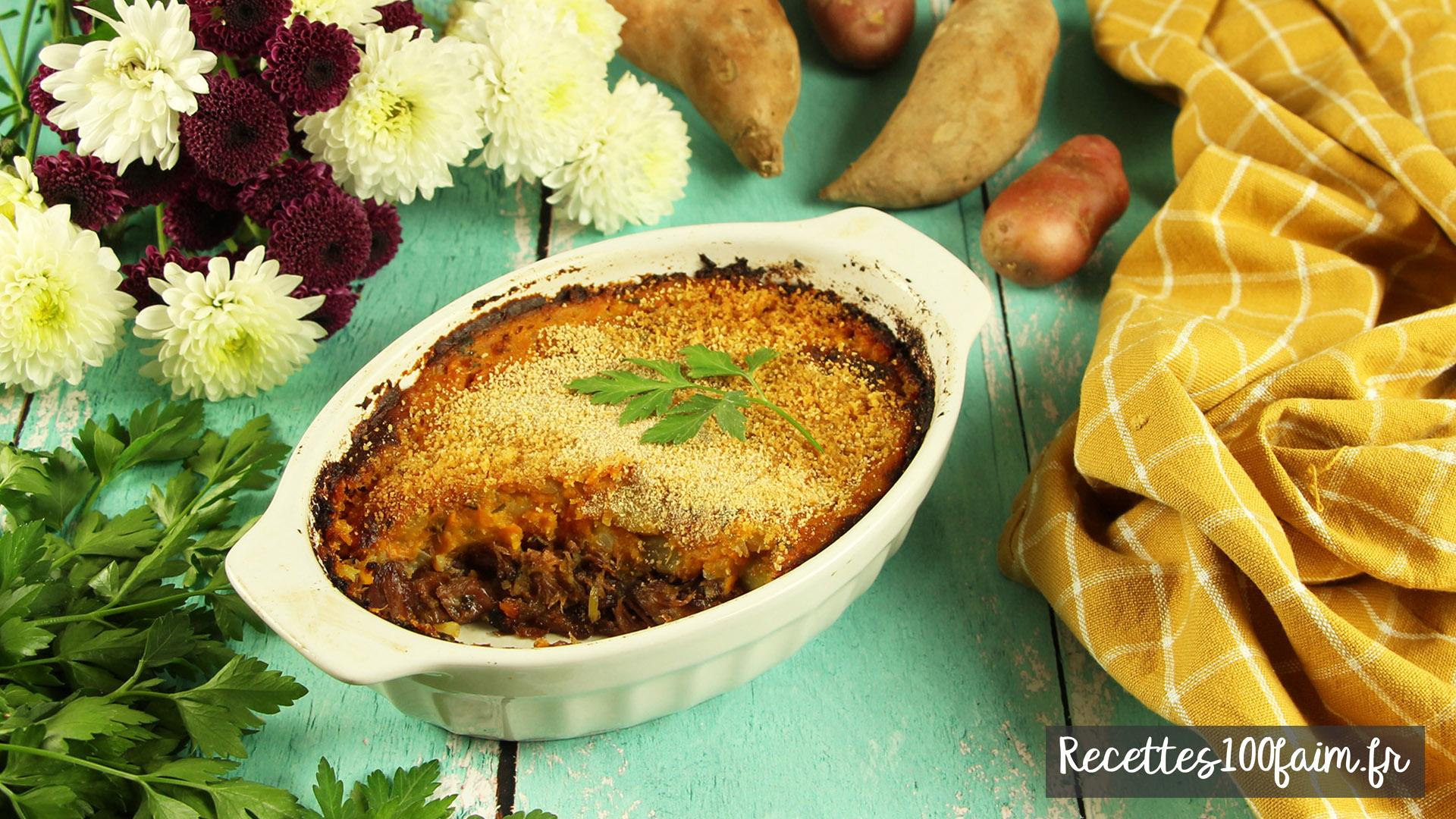 recette parmentier canard patate douce