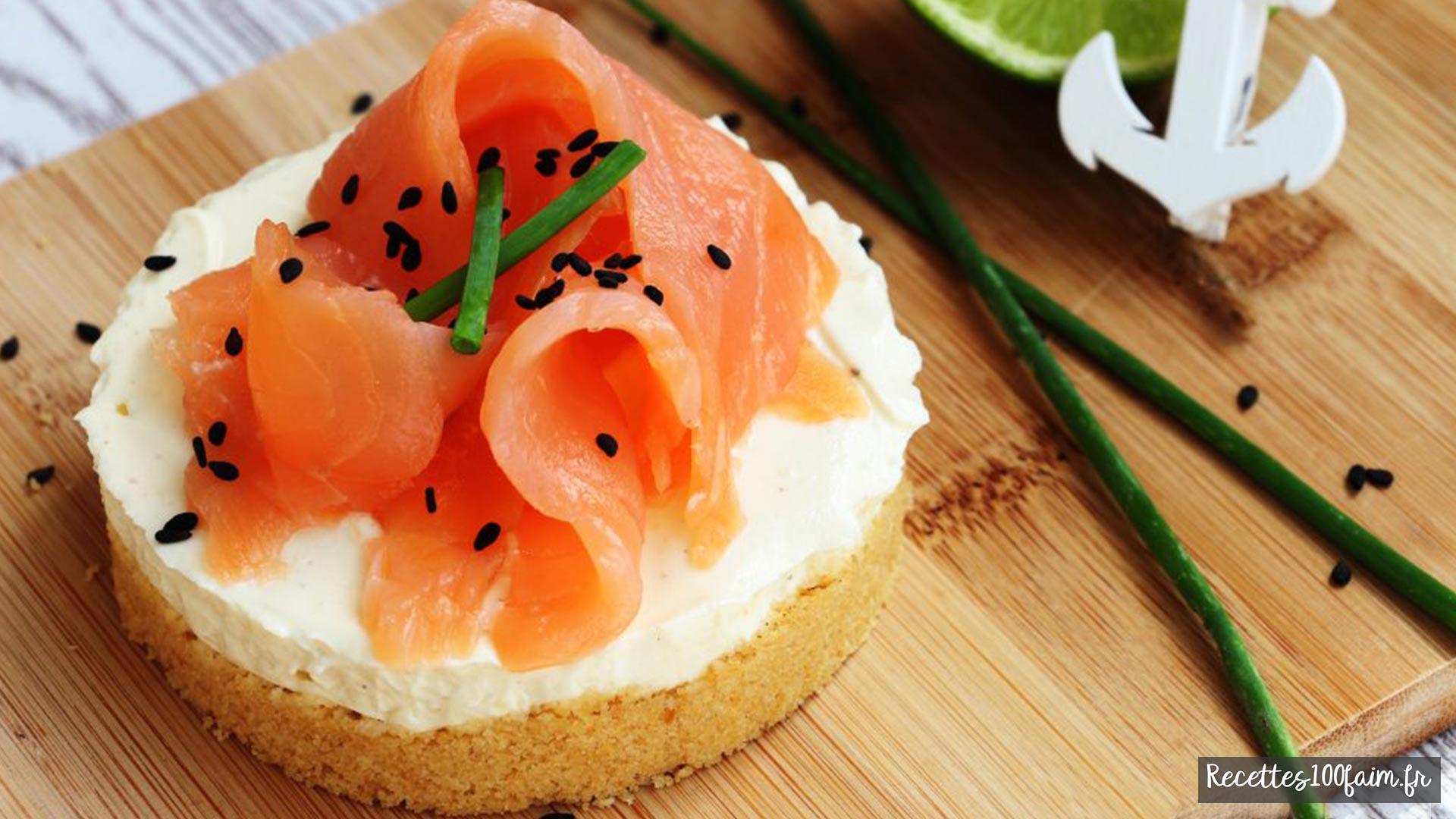 cheesecake au saumon