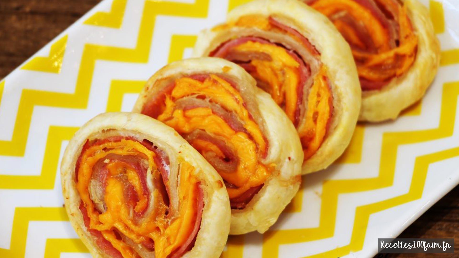 feuilletés au bacon et mimolette