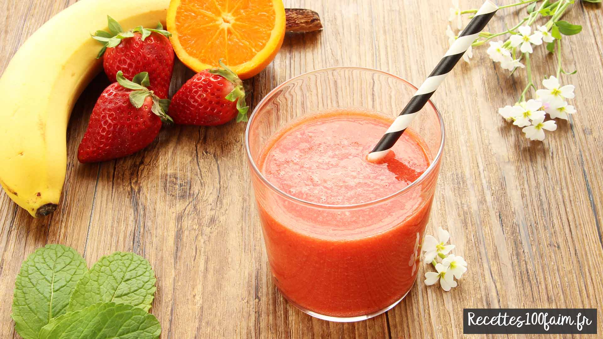 Photo smoothie fraise banane
