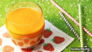 Smoothie mangue fraise