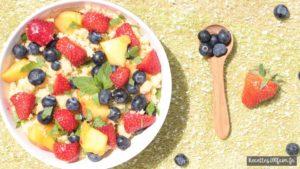 Recette de Taboulé fraises mangue et myrtilles
