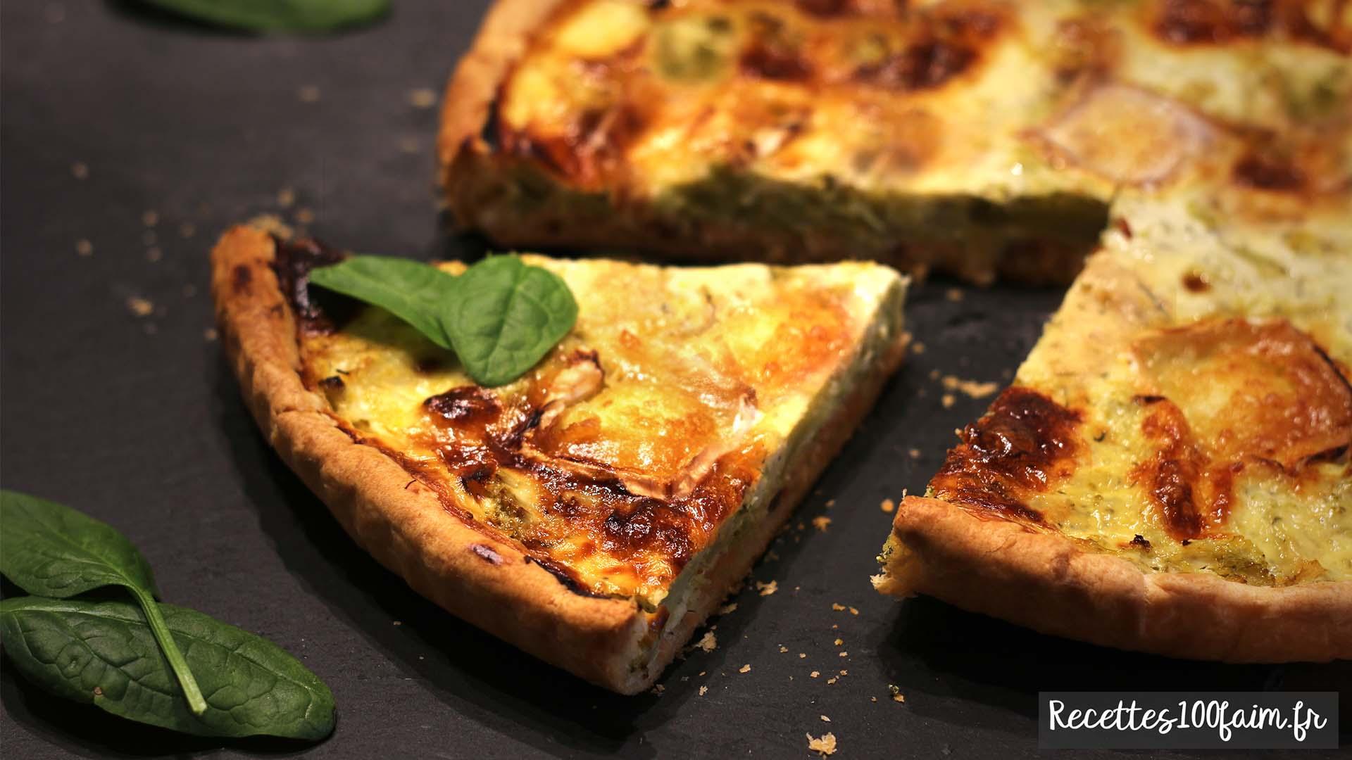 Tarte saumon brocolis et chevre