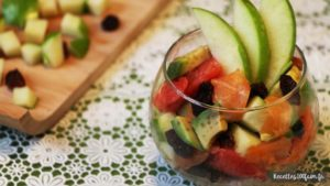 Verrine au saumon et avocat