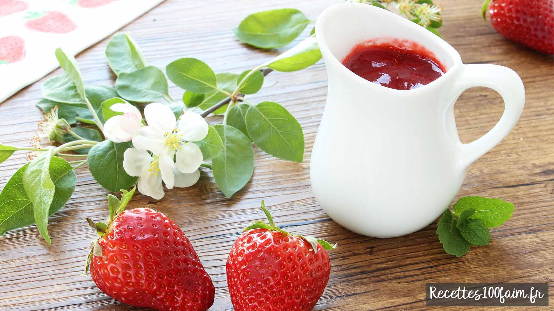 Recette de coulis de fraises et menthe