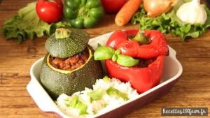 légumes farcis boeuf porc