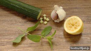 Tzatziki concombre ail et citron