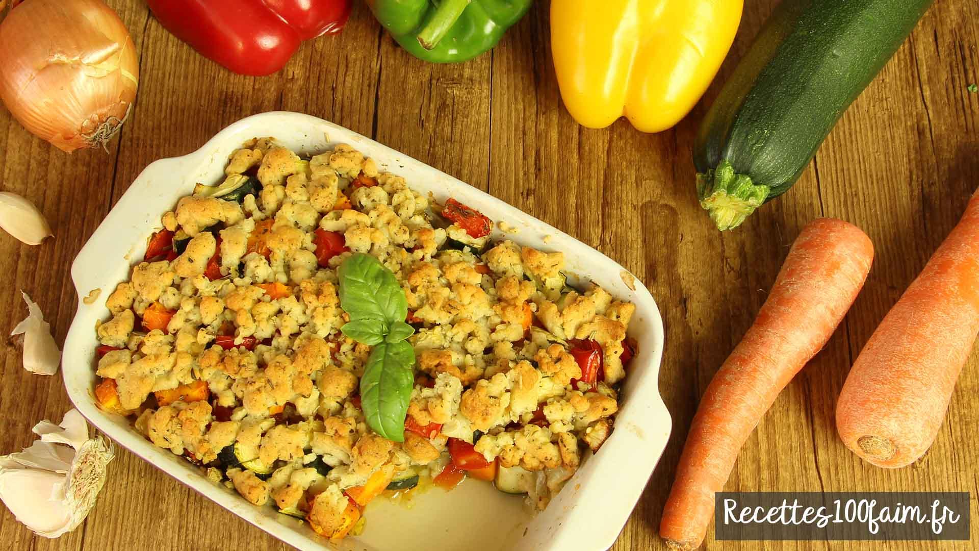 crumble de legume sale au parmesan