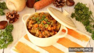 lentilles cuisinees aux carottes et oignons