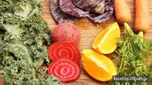 recette salade chou kale betterave