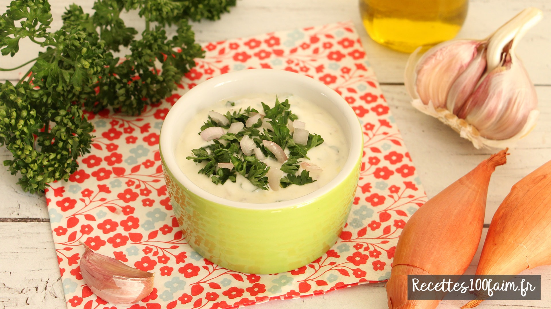 recette sauce fromage blanc ail persil