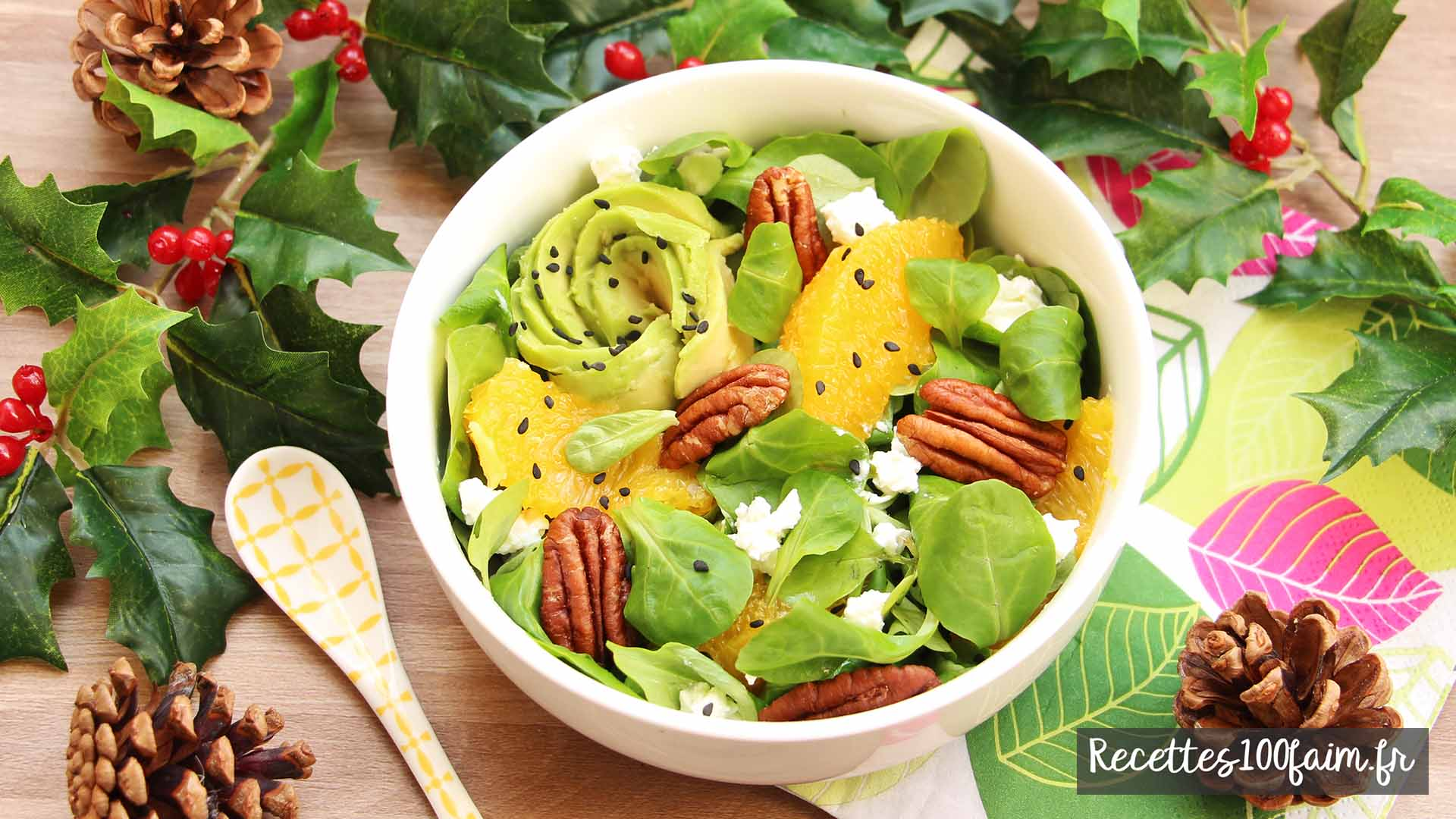 salade 4 saisons pecan avocat orange