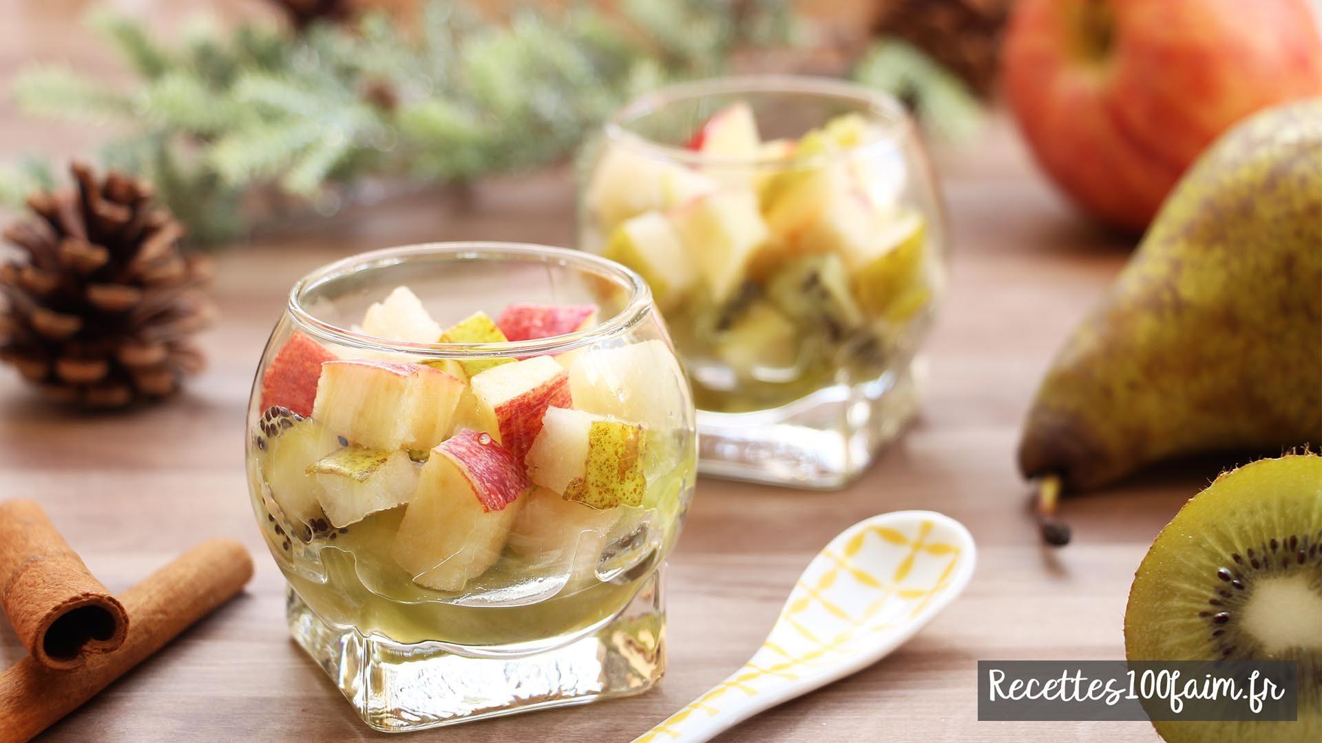 recette fruits pomme poire kiwi vanille
