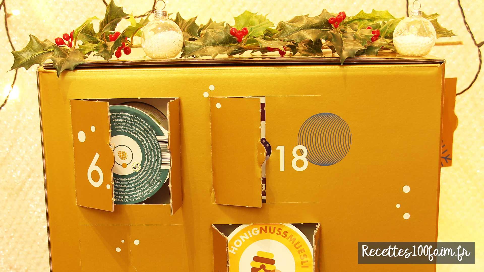 calendrier avent muesli granolas