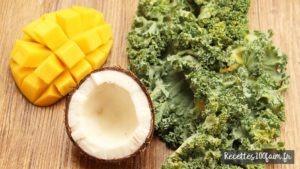 recette smoothie chou kale coco mangue