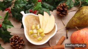 recettes100faim compote pomme poire