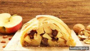 strudel aux pomme raisins noix