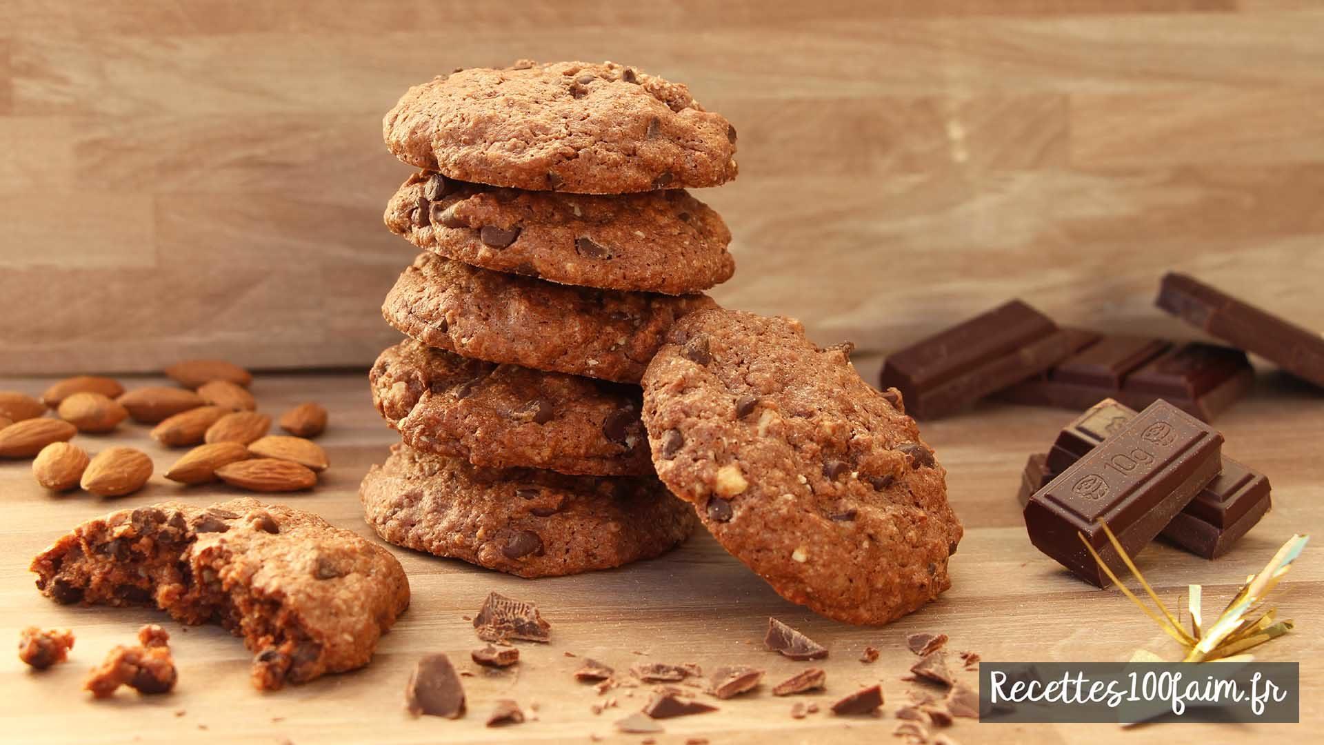 recette cookies fondant chocolat noisette