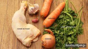poulet oignon carotte
