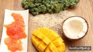 saumon chou kale mangue