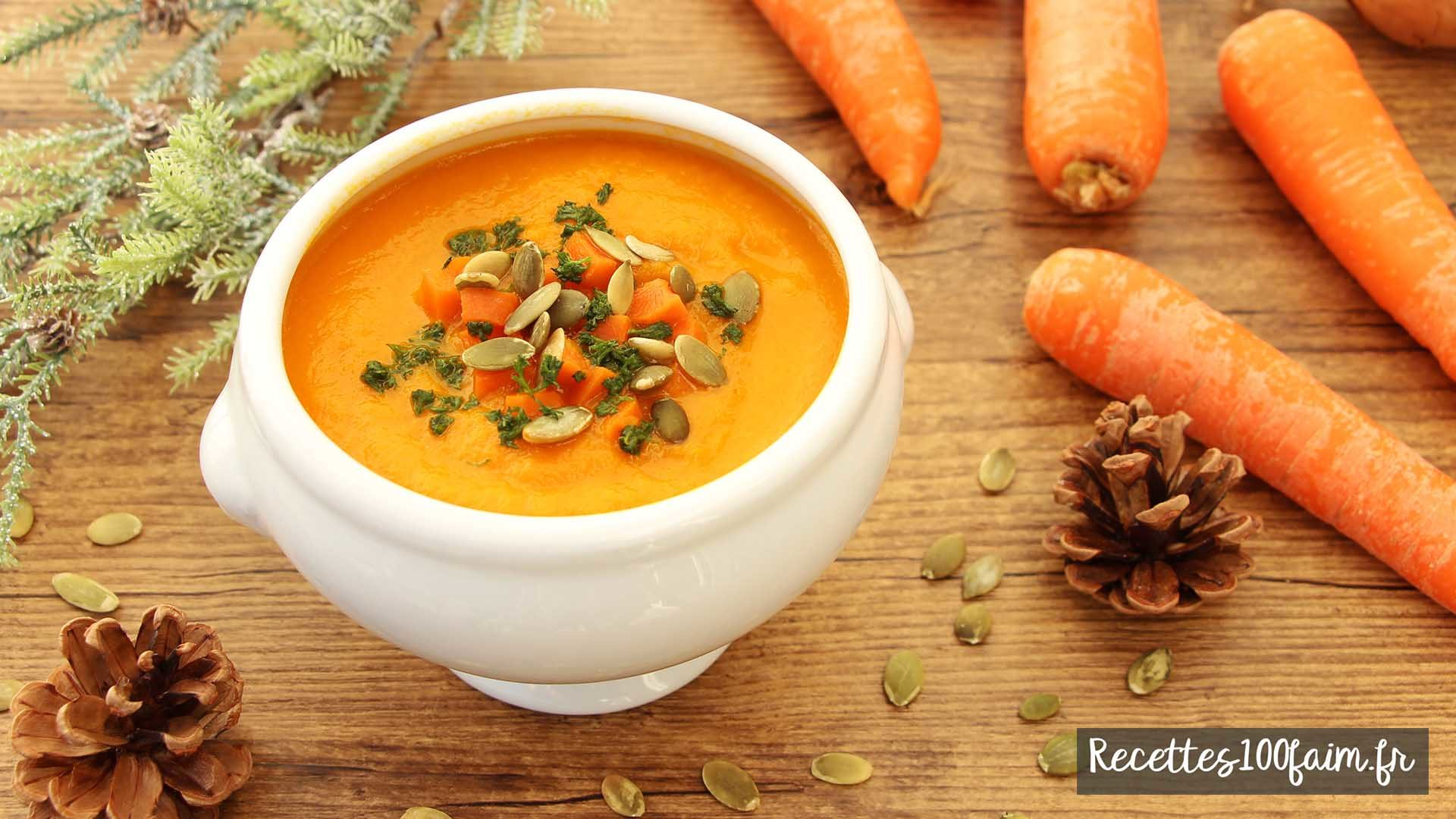 veloute de carotte curry et coco