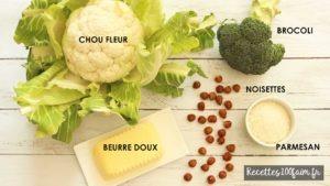 brocoli chou fleur parmesan noisette