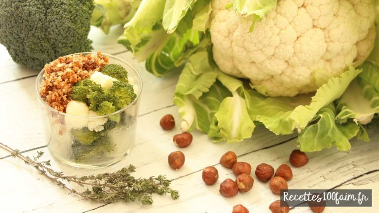 crumble salé brocoli chou fleur