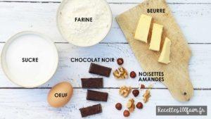 chocolat beurre farine oeuf oleagineux cookies