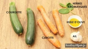 ingredients poelee carottes courgettes
