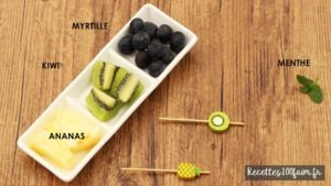 ingredients salade ananas kiwi myrtille