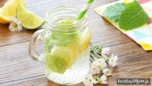 eau rafraichissante citron menthe