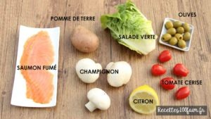 ingredients salade saumon patate