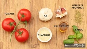ingredients tomates a la provencale