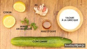ingredients tzatziki recette