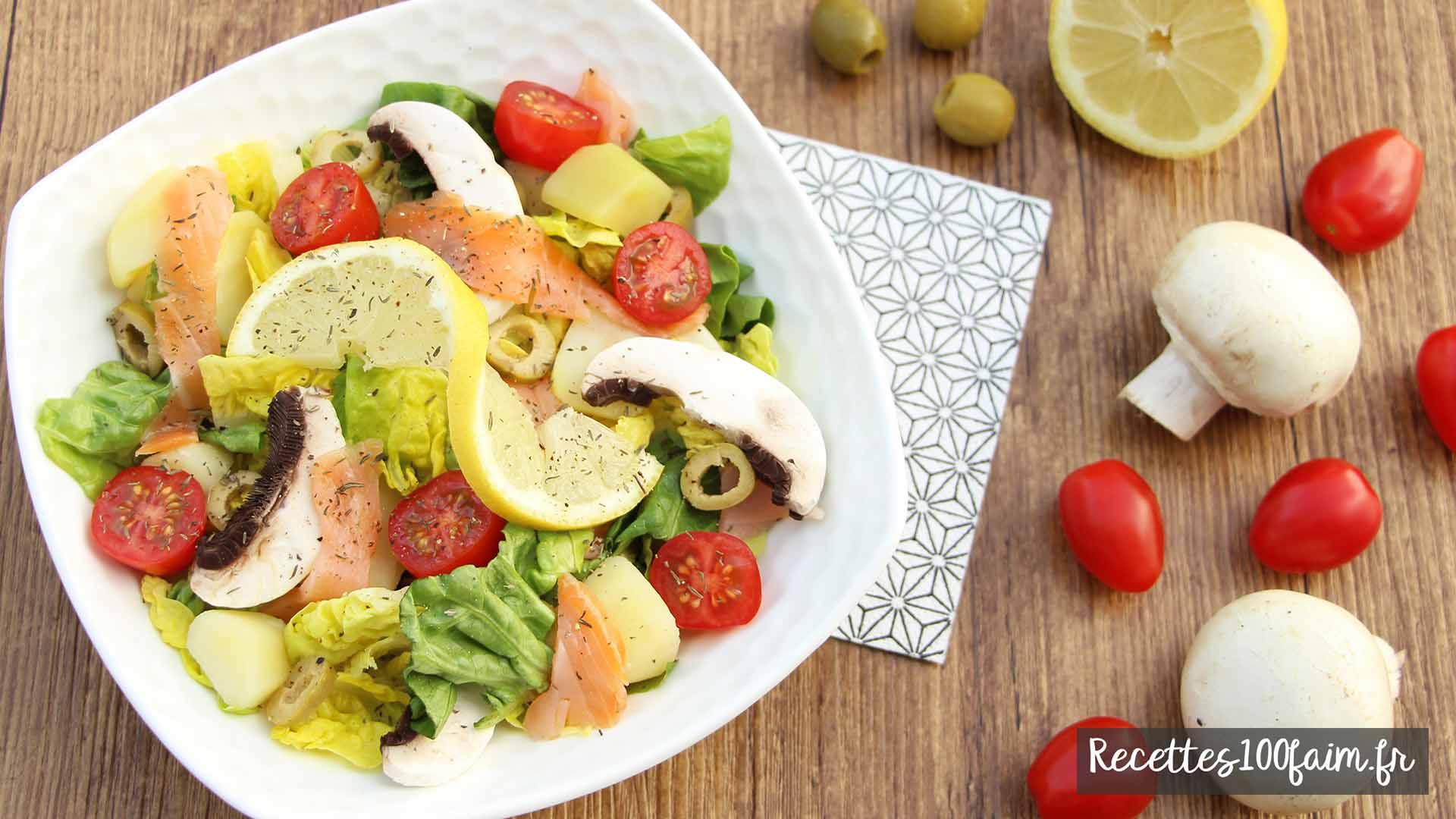 recette salade saumon champignon pomme de terre
