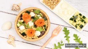 recette salade saumon feta courgette