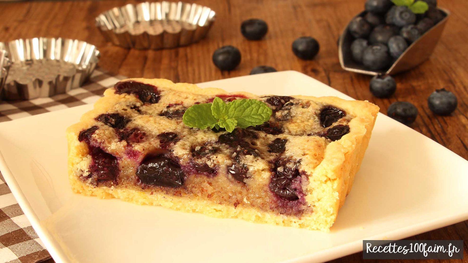 recette tarte amandine myrtille