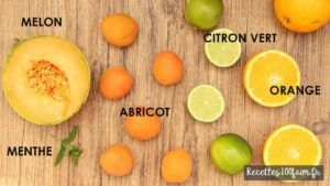 ingredients smoothie melon abricot