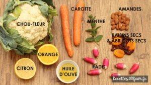 ingredients taboulé chou fleur