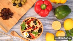 recette salade pois chiches poivron thon