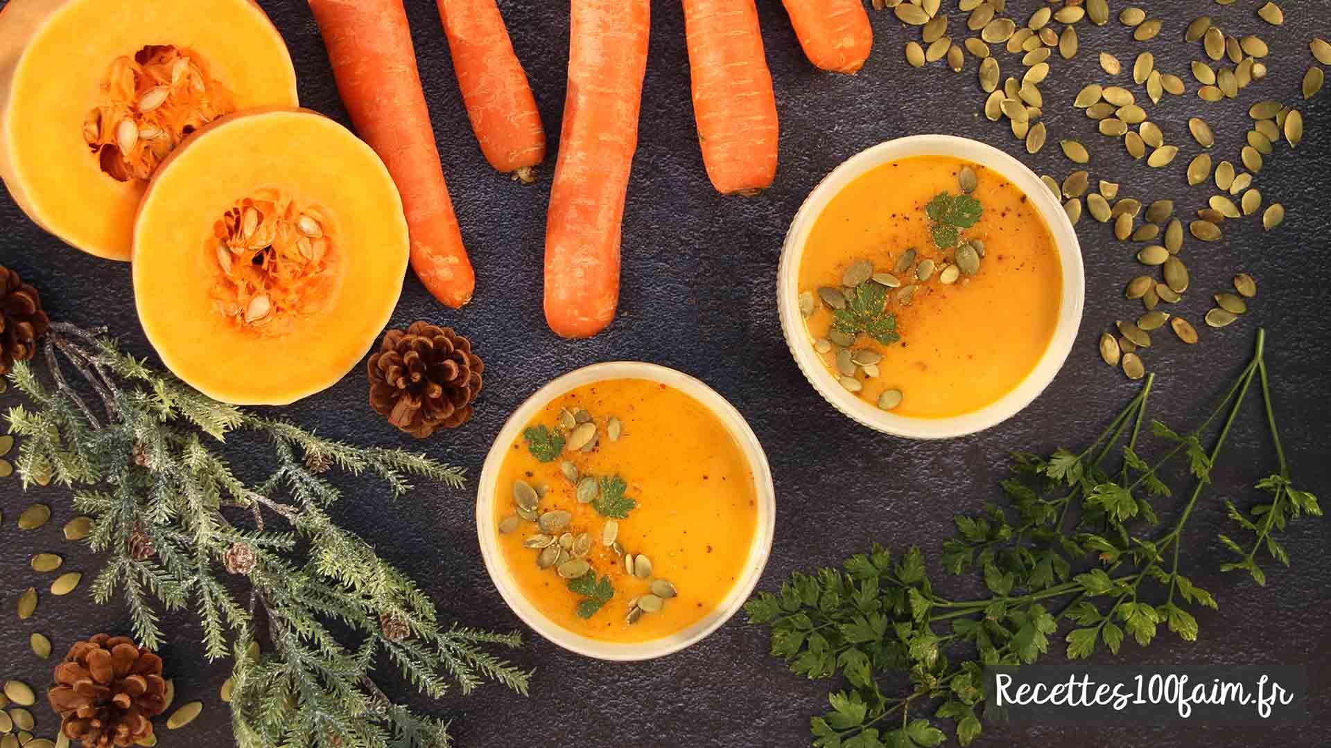 recette soupe butternut carotte