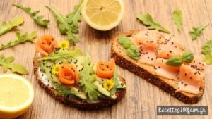 toast saumon avocat chevre