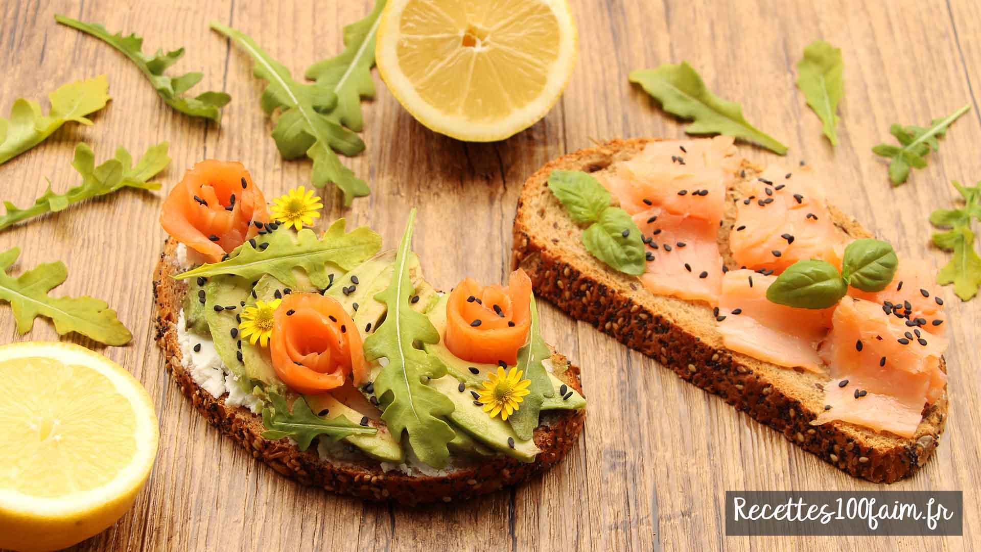 toast saumon avocat chevre