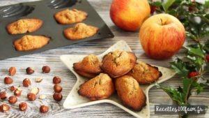 recette madeleine pomme noisette