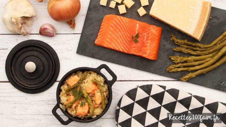 recette risotto saumon asperge