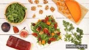 recette salade figue mimolette canard