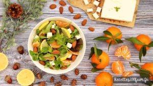 recette salade clementine feta amande