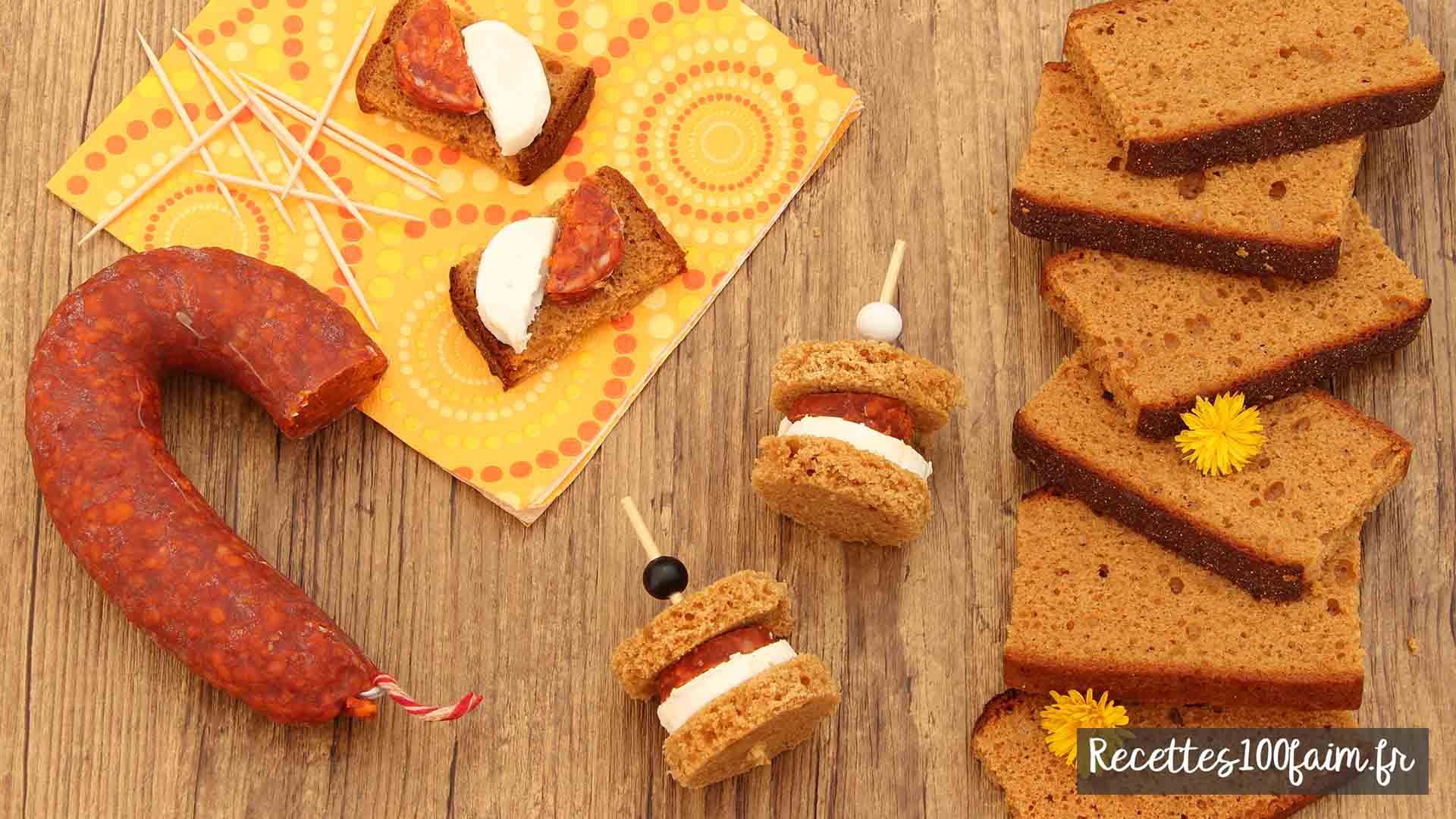 recette toast pain epice chorizo chevre